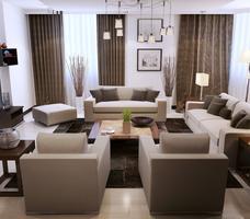 Projekt salonu - nowoczesny wystrój wnętrz