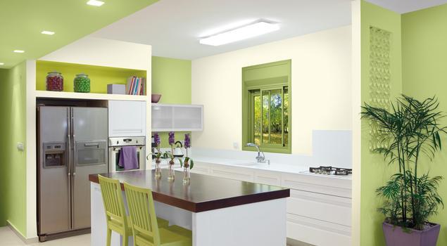 Farby do kuchni Kolory ścian kuchni sekretem udanego po   -> Kuchnia Tapeta Czy Farba