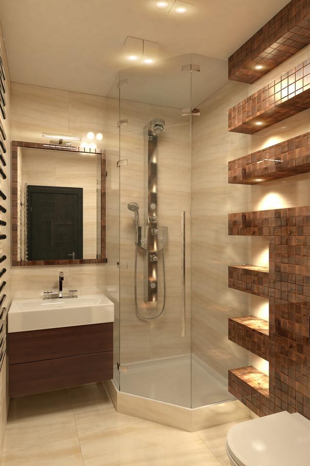 Zobacz galerię zdjęć Nowoczesna łazienka w beżu - stylowy wystrój łazienki  Stronywnętrza.pl